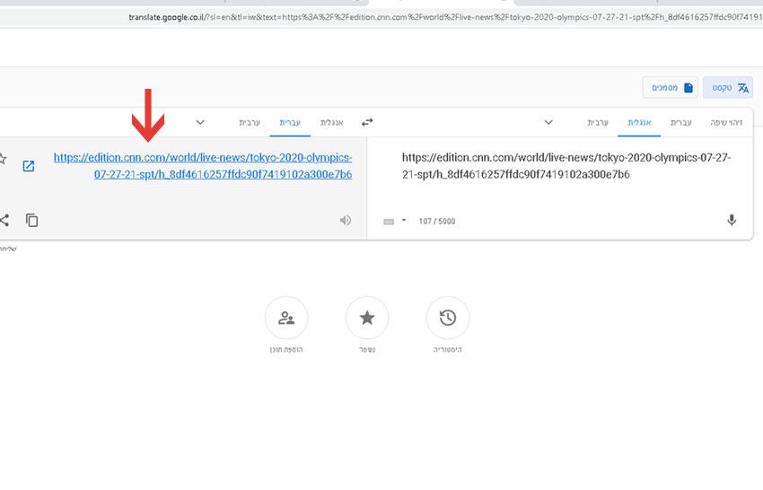 דף אינטרנט שלם מתורגם