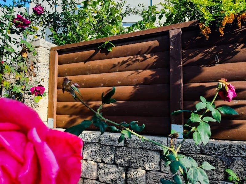 1. גדר חומה דקורטיבית